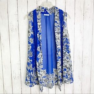 QVC {Susan Graver} Sheer Chiffon Floral Vest